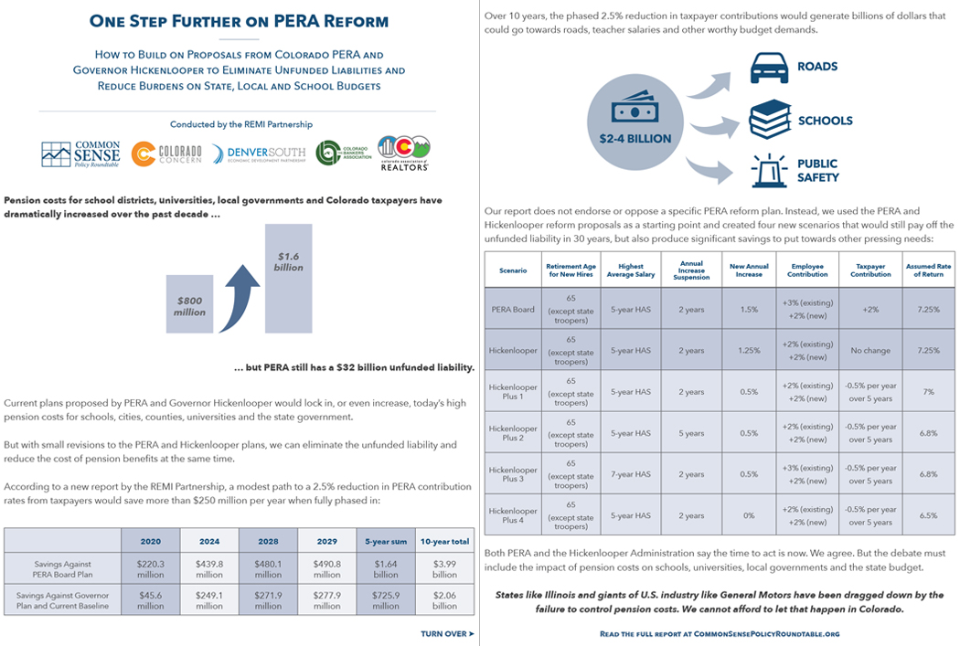 Colorado PERA Reform Fact Sheet