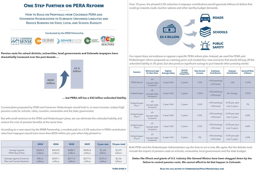 Colorado PERA Reform Fact Sheet