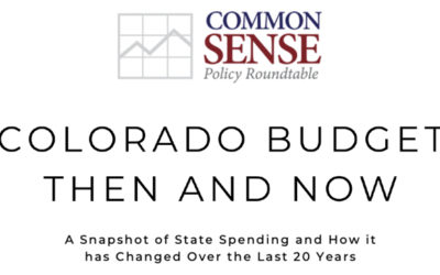 Colorado Budget: Then and Now