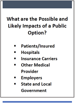 Possible Likely Impacts of a Public Option