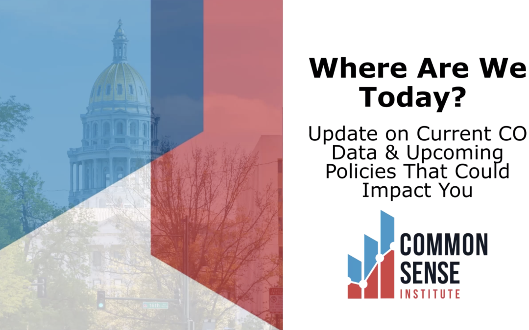 Where Are We Today? Update on Current CO Data & Upcoming Policies