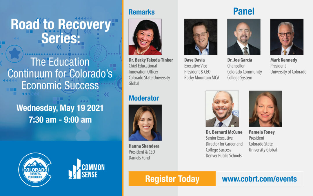 Road to Recovery Series: The Education Continuum for Colorado's Economic Success