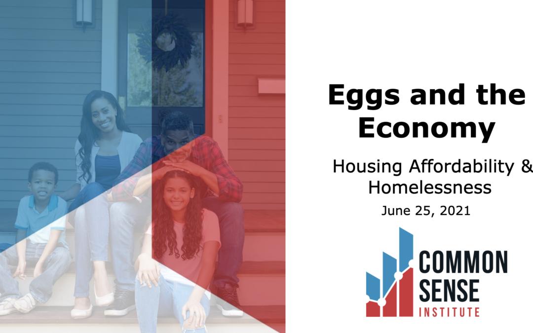 Eggs & the Economy – Housing Affordability & Homelessness
